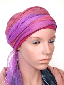 Een sjaal-band is geheel dekkend en toch perfect luchtig voor de zomer